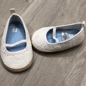 Carter's white slip on shoe